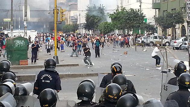 """""""la parada"""" disturbios en lima - peru"""