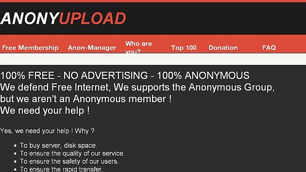 Sitio anonyupload.com