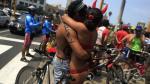 'Ciclonudistas' recorrieron Lima - Noticias de ciclonudista lima