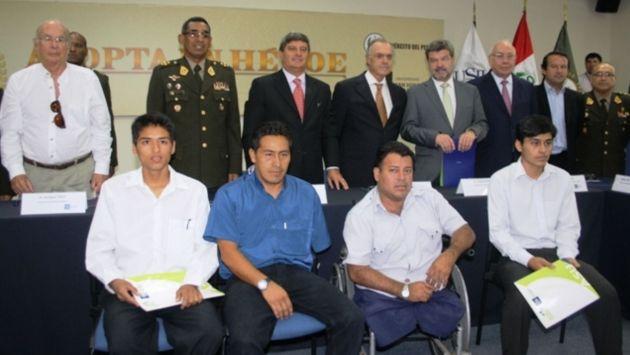 Comité de Honor que buscará ayuda para soldados discapacitados fue presentado esta tarde. (Andina)