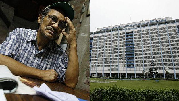 Leoncio Miranda perdió la esperanza de ser atendido en el seguro social. (Luis Gonzales)
