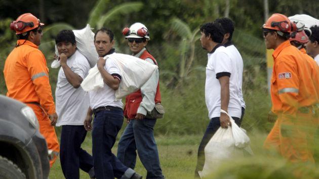 RESCATE DE 36 TRABAJADORES  SECUESTRADOS POR SENDERO LUMINOSO : OPERACION LIBERTAD 39344