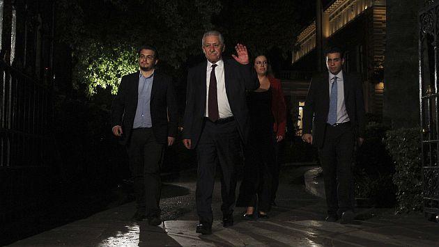 Fotis Kouvelis, líder del partido de centro-izquierda Dimar, fue uno de los primeros en retirarse. (Reuters)