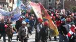 Mineros toman calles de Puno - Noticias de victor ancco