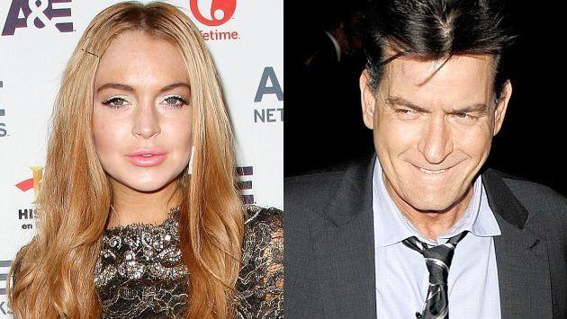Lindsay Lohan grabó escena sexual con Charlie Sheen