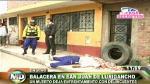 Un muerto y tres heridos por balacera en San Juan de Lurigancho - Noticias de alexander vargas