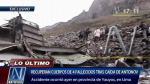 Recuperan cuerpos de tripulantes de avión siniestrado en Yauyos - Noticias de reserva paisajística nor yauyos cochas